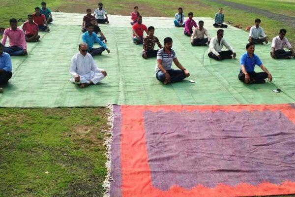 आमला कॉलेज में मनाया विश्व योग दिवस