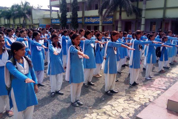 स्व'छता ही सेवा अभियान संदेश रैली का आयोजन, छात्राओं ने निकाली विशाल रैली